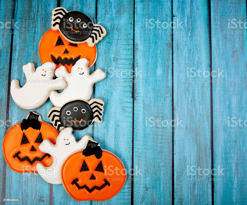 Halloween Cookie Background stock photo