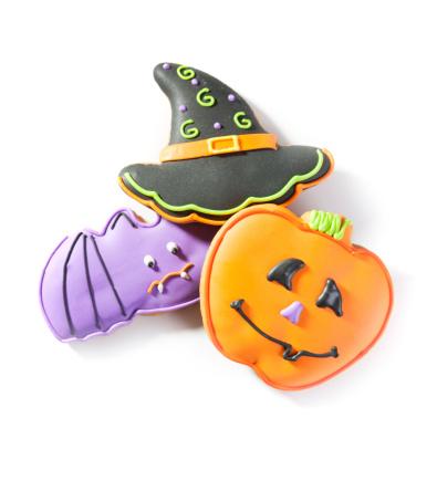 Halloween Cookies on white/