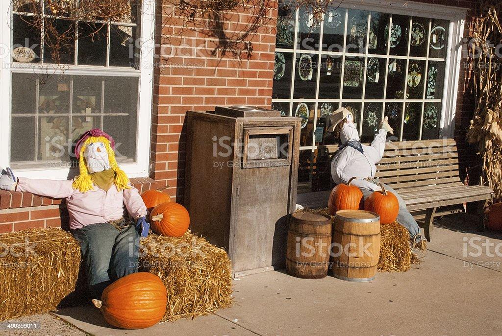 Halloween pumpkins el vestuario y banco Amana colonias de Iowa - foto de stock
