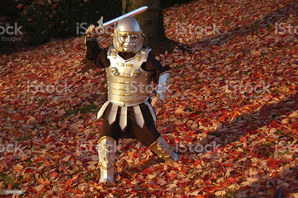 Halloween Crusader royalty-free stock photo