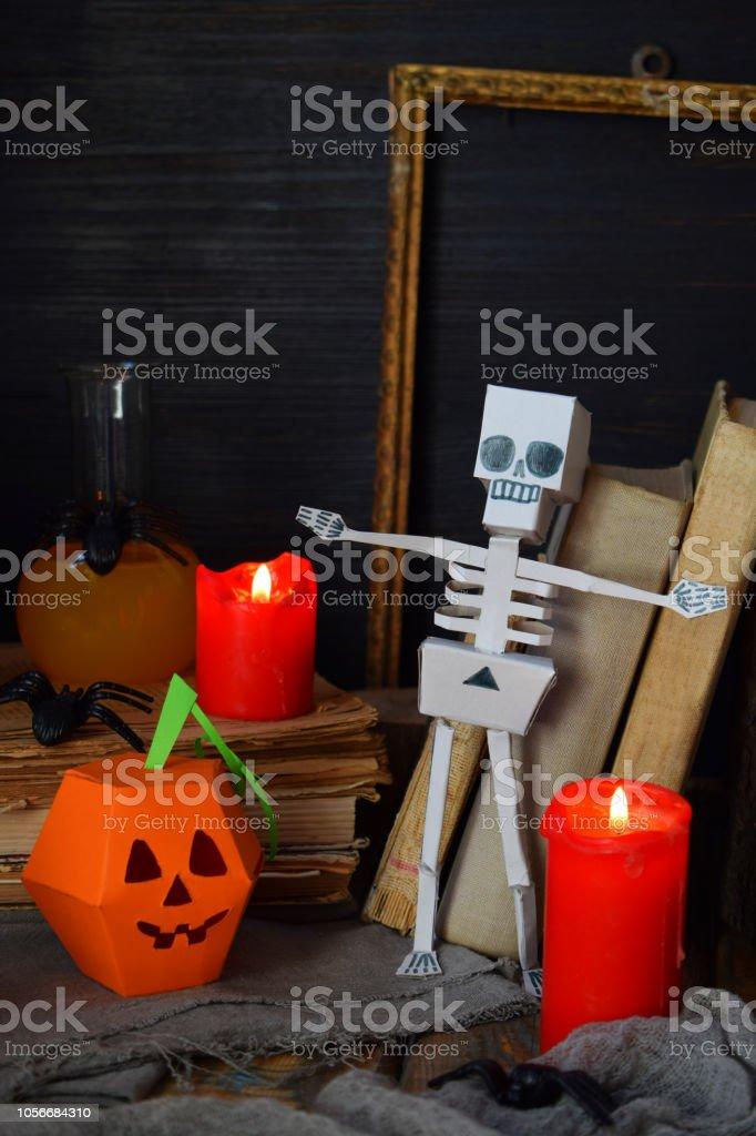 Diy Dekoration Halloween Kürbis Und Skelett Aus Papier