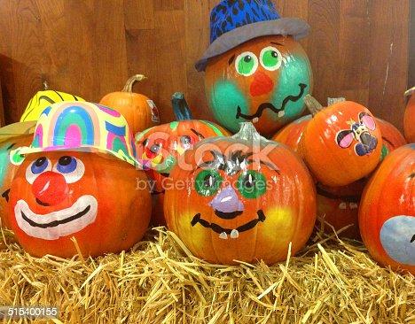 istock Halloween Decorated Pumpkins 515400155