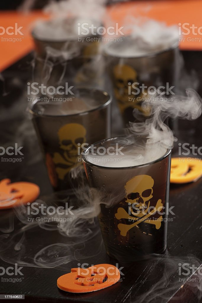 Halloween drinks - Deadly Shot royalty-free stock photo