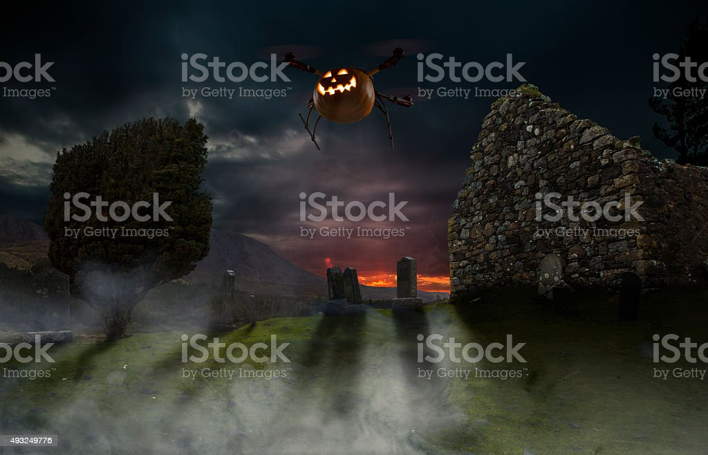 Halloween Drone stock photo
