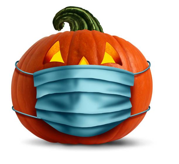 máscara de cara de halloween - halloween covid fotografías e imágenes de stock