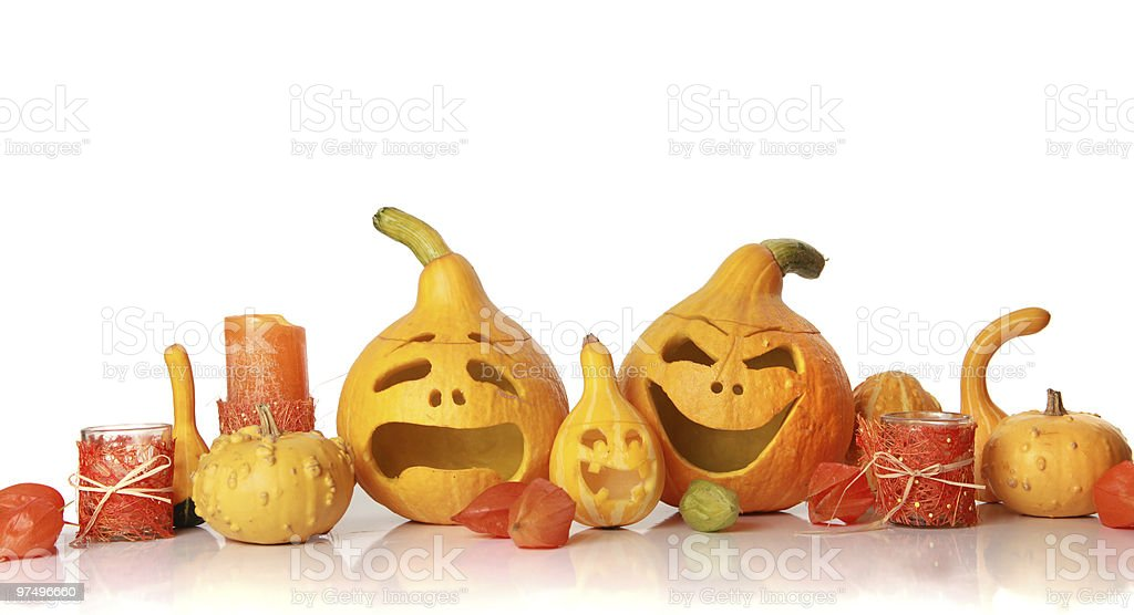 halloween faces royalty-free stock photo