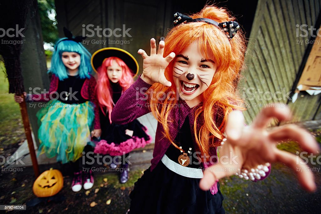 Halloween fright stock photo