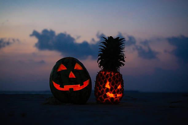 Halloween Fruit Lanterns stock photo