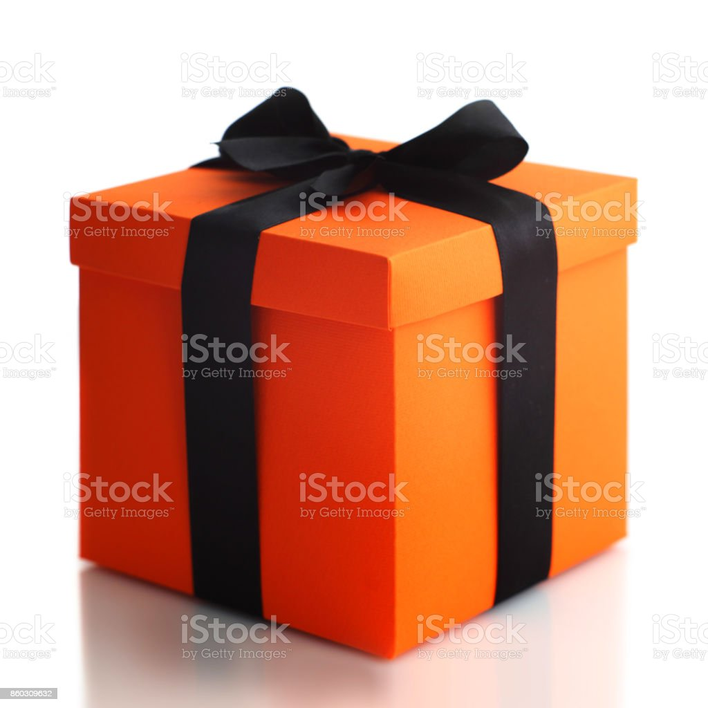 Halloween gift box - foto stock