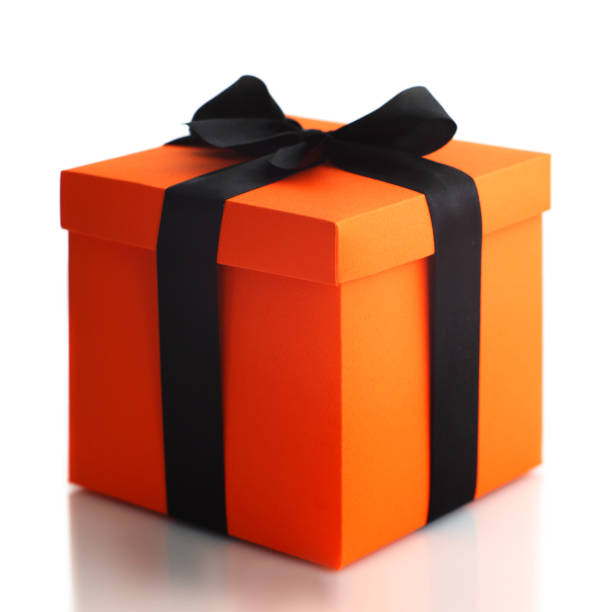 Halloween gift box - foto stock