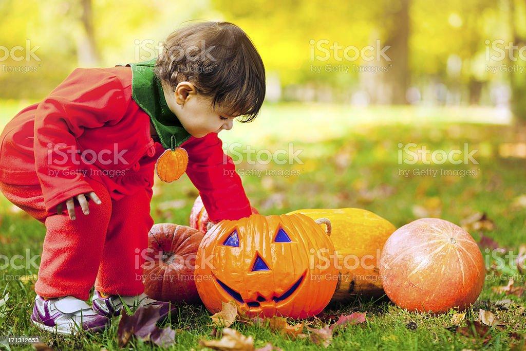 Halloween girl royalty-free stock photo