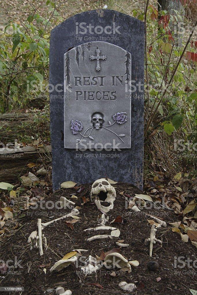 Halloween gravesite royalty-free stock photo