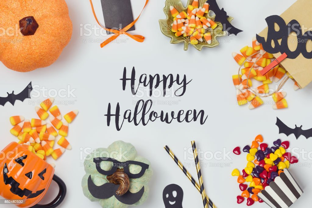 Halloween holiday banner design stock photo