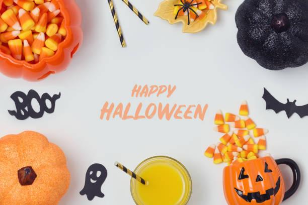 halloween-urlaub-banner-design - halloween party einladungen stock-fotos und bilder