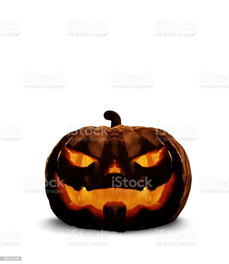halloween horror evil pumpkin 3d rendering isolated royalty-free stock photo
