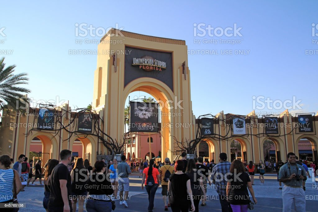 Halloween Horror Night in the Universal Studios stock photo