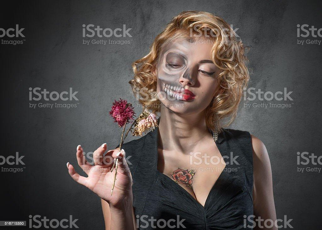 Halloween image – female portrait stock photo