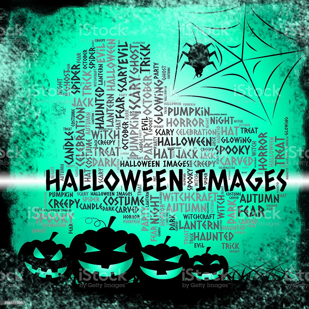 Halloween Images Means Trick Or Treat And Celebration photo libre de droits