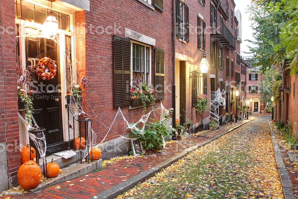 Halloween in Boston stock photo