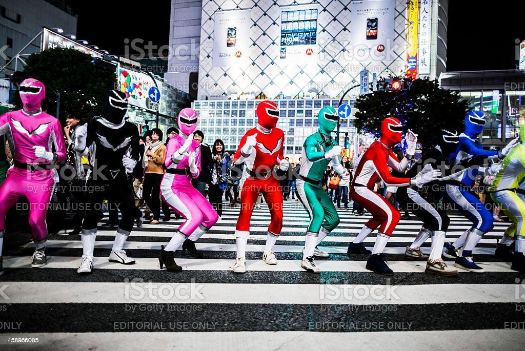 Halloween in Shibuya Tokyo Japan stock photo