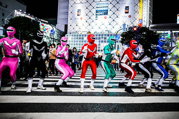 halloween in shibuya in tokio, japan - tokyo cosplay stock-fotos und bilder
