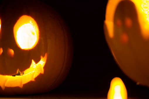 Halloween Jack O Lantern And Ghost Figure Stock Photo Download Image Now Istock