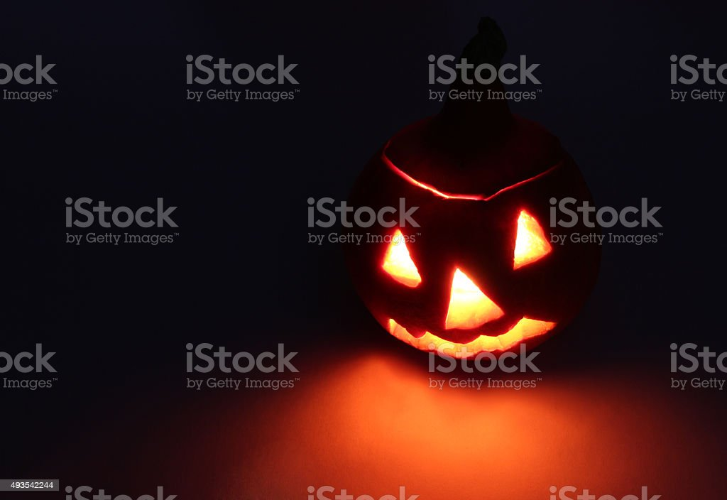 Halloween. Jack-o-lantern (pumpkin) stock photo