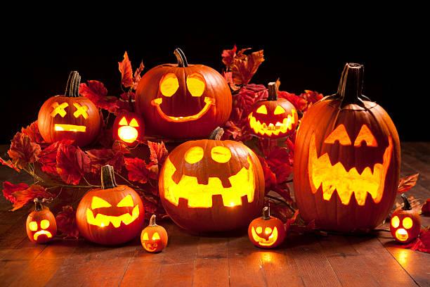 abóbora de abóboras de halloween - lanterna de halloween - fotografias e filmes do acervo