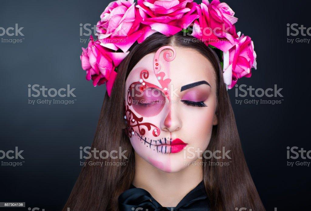 halloween make up stock photo