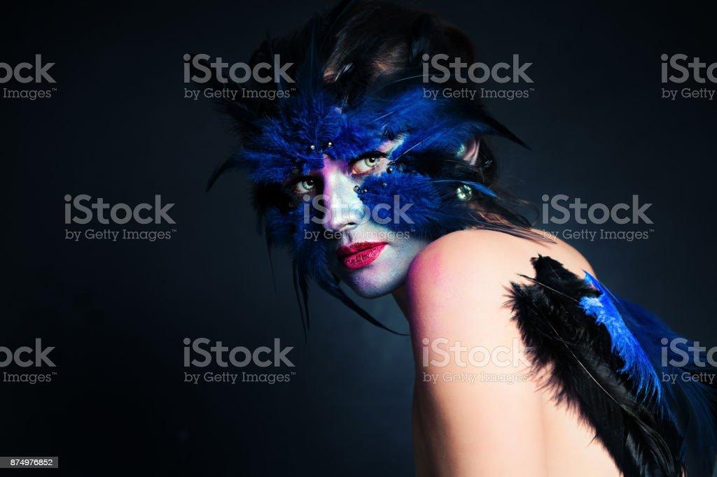 Bird Halloween Makeup.Halloween Makeup Fantasy Bird Woman With Artistic Makeup Stock Photo Download Image Now Istock