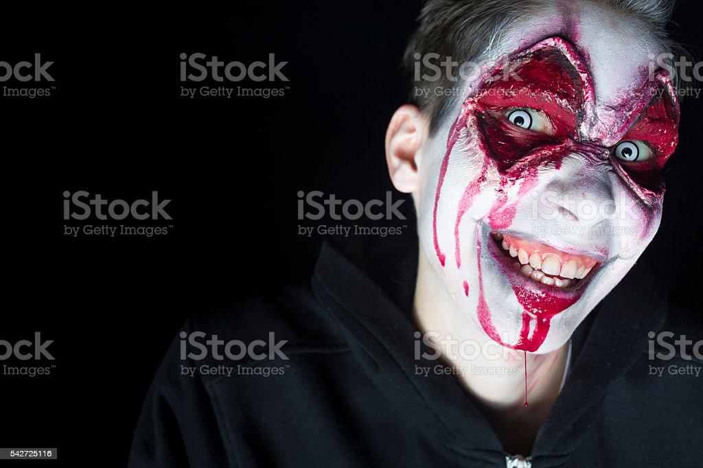 Halloween Man Face stock photo