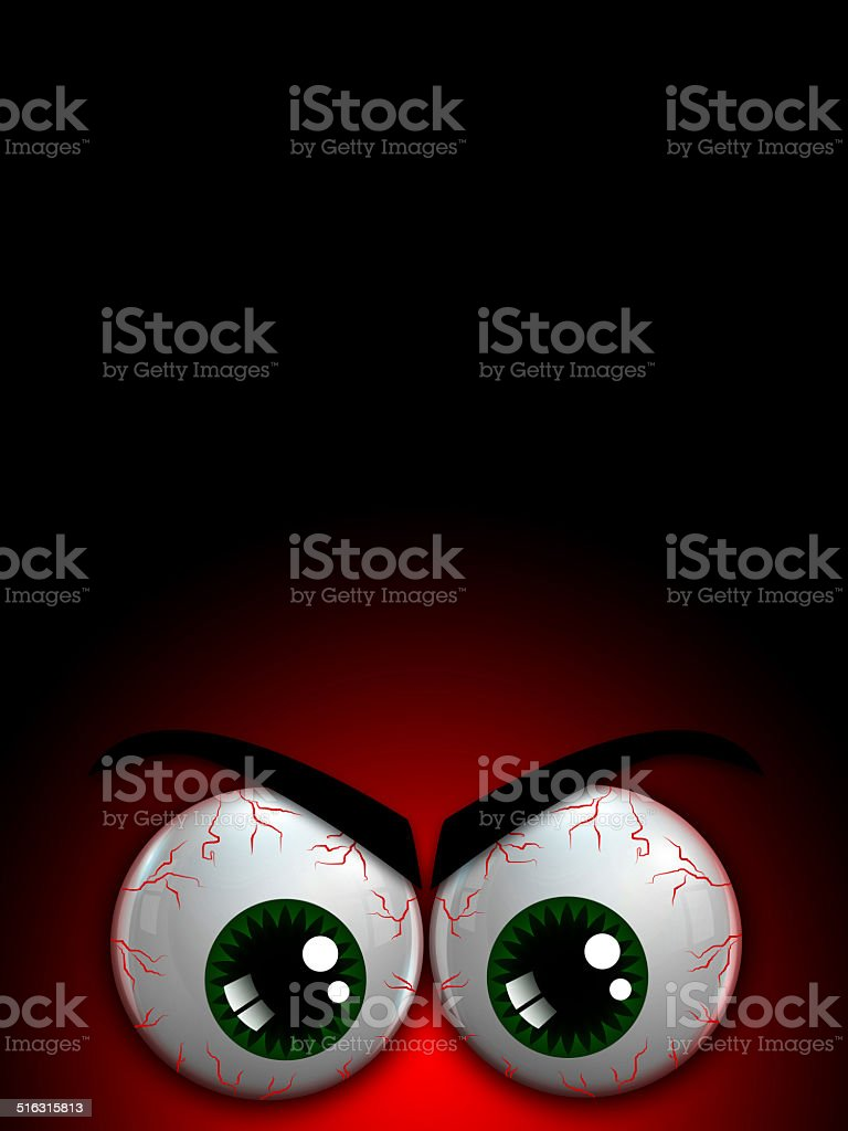 halloween monster eyes stock photo