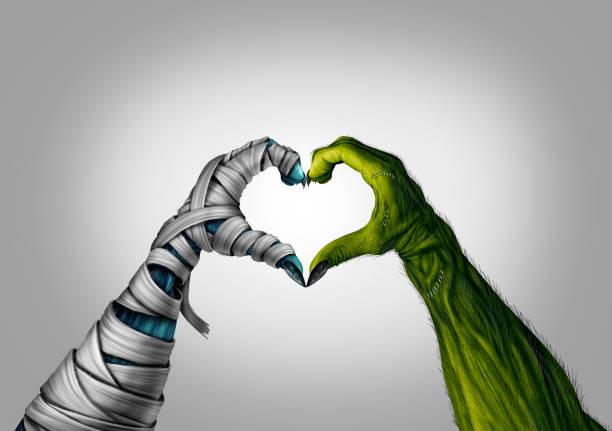 Halloween monsters heart shape picture id1038978064?b=1&k=6&m=1038978064&s=612x612&w=0&h=m0z 2djshf5vycvvhqfx6bgvjpydcrldh vcbyfjaua=