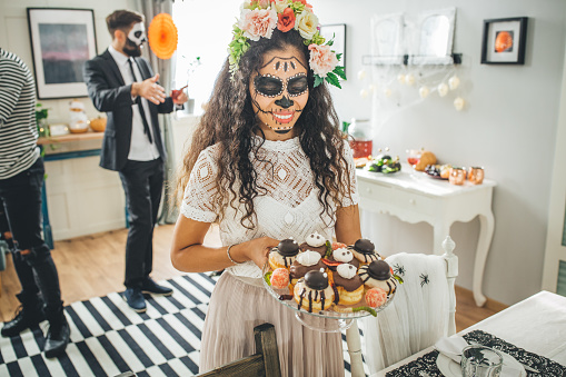 Halloween multi ethnic party