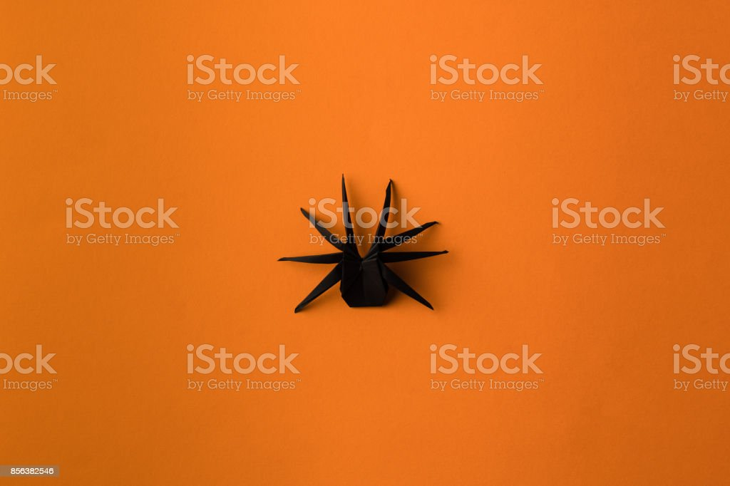 halloween origami spider stock photo
