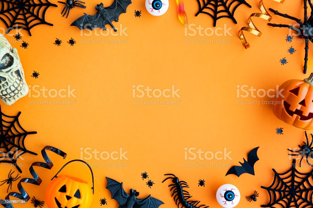 Halloween party border stock photo