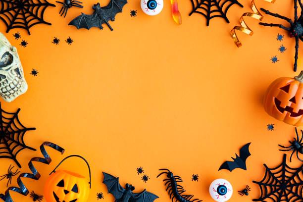 ハロウィーン パーティの罫線 - halloween ストックフォトと画像