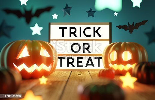 istock Halloween Party Decorations and Lights 1175494569