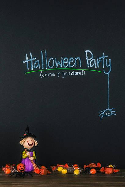 halloween-party-einladung - halloween party einladungen stock-fotos und bilder