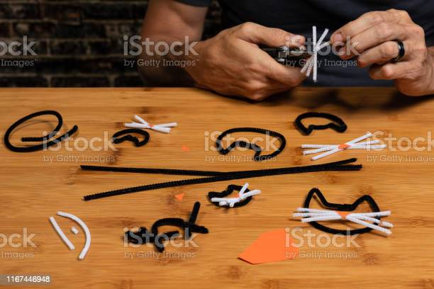 Halloween pipecleaner and construction paper crafts featuring black picture id1167446948?b=1&k=6&m=1167446948&s=612x612&h=jwlmsnumic8leppne0cd9o88l0ust18lepe287tpgmw=