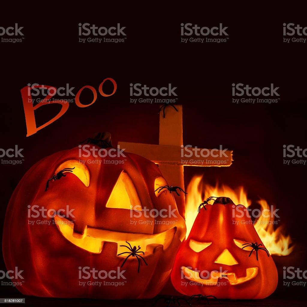 Halloween postcard stock photo