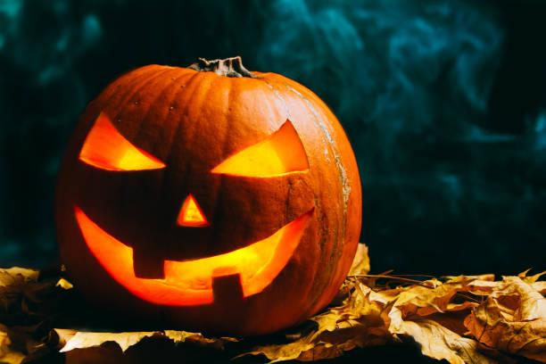 abóbora de halloween em noite - lanterna de halloween - fotografias e filmes do acervo
