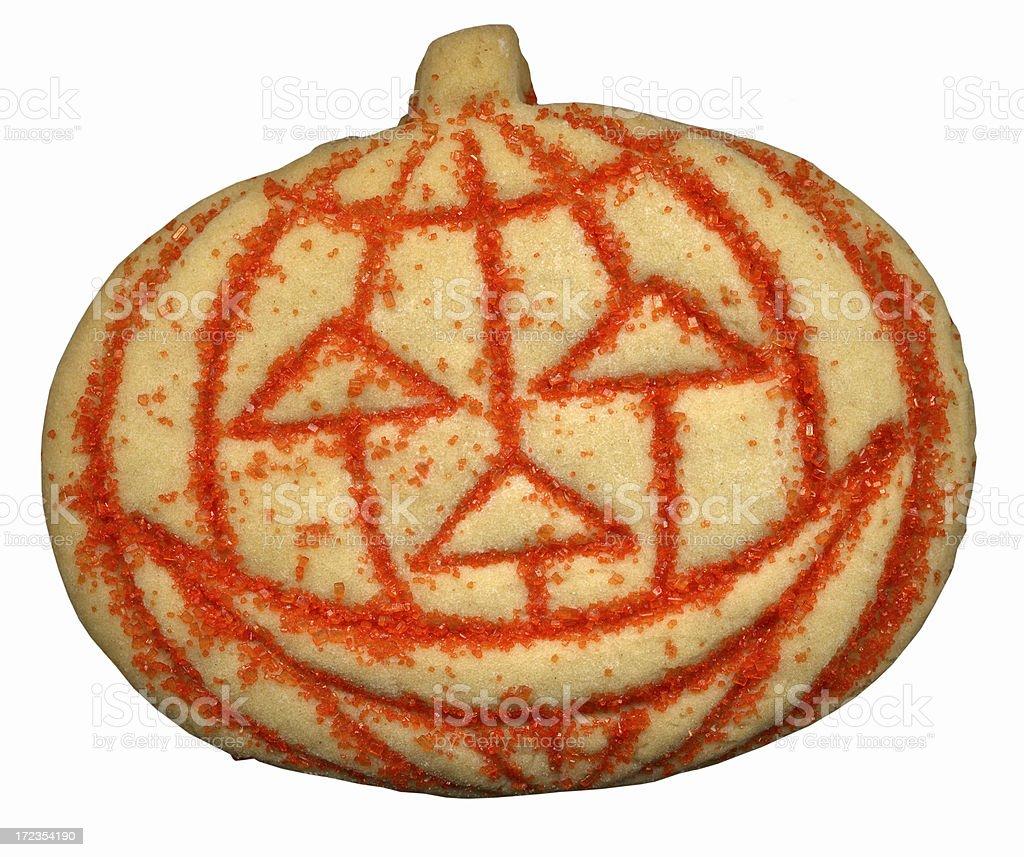 Halloween Pumpkin Cookie royalty-free stock photo