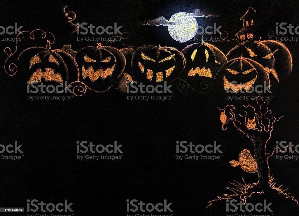 Halloween Pumpkin Drawing royalty-free stock photo