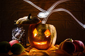 istock Halloween Pumpkin In A Mystic At Night 1179225144