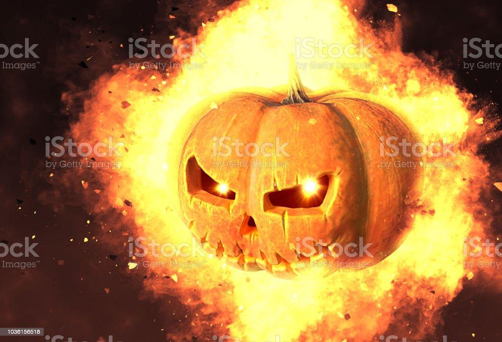 Halloween Kürbis In ein mystisches Licht Hintergrund. – Foto
