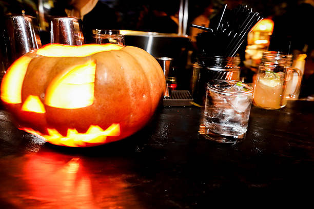 Royalty Free Halloween Party Bar Bar Counter Pictures, Images and ...