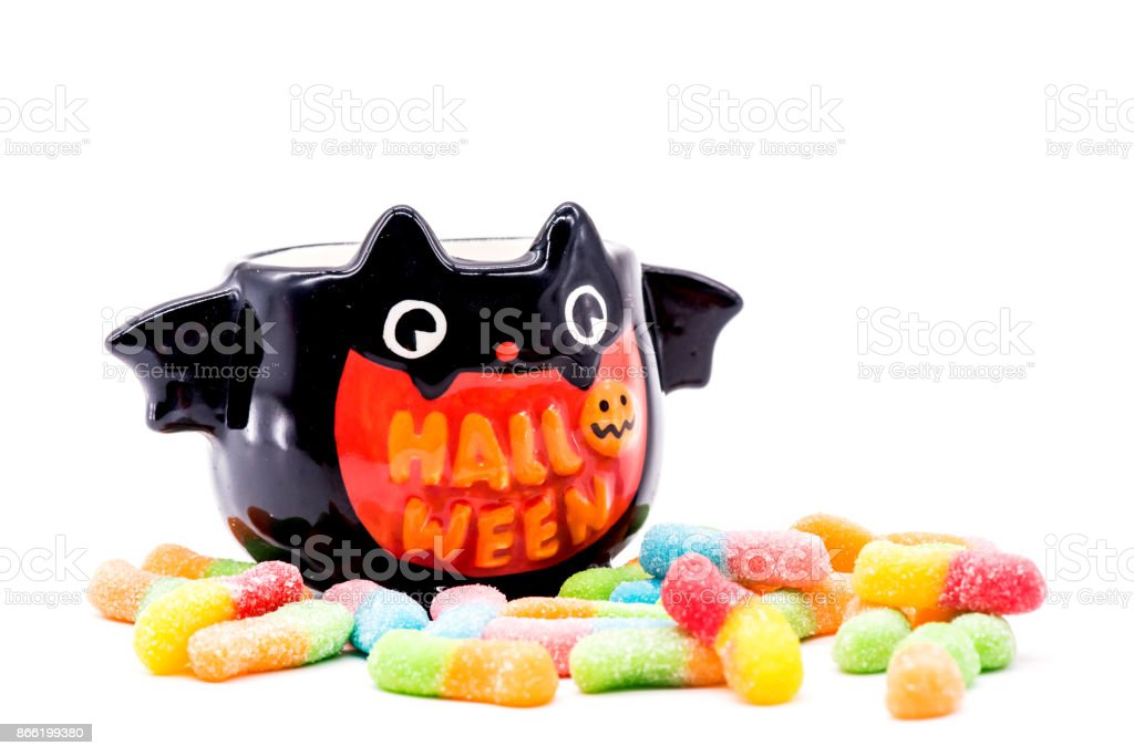 Halloween pumpkin isolated on white background stock photo