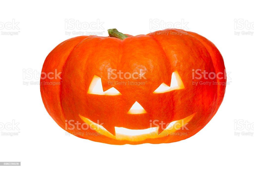 Abóbora de Halloween Isolado no branco foto royalty-free