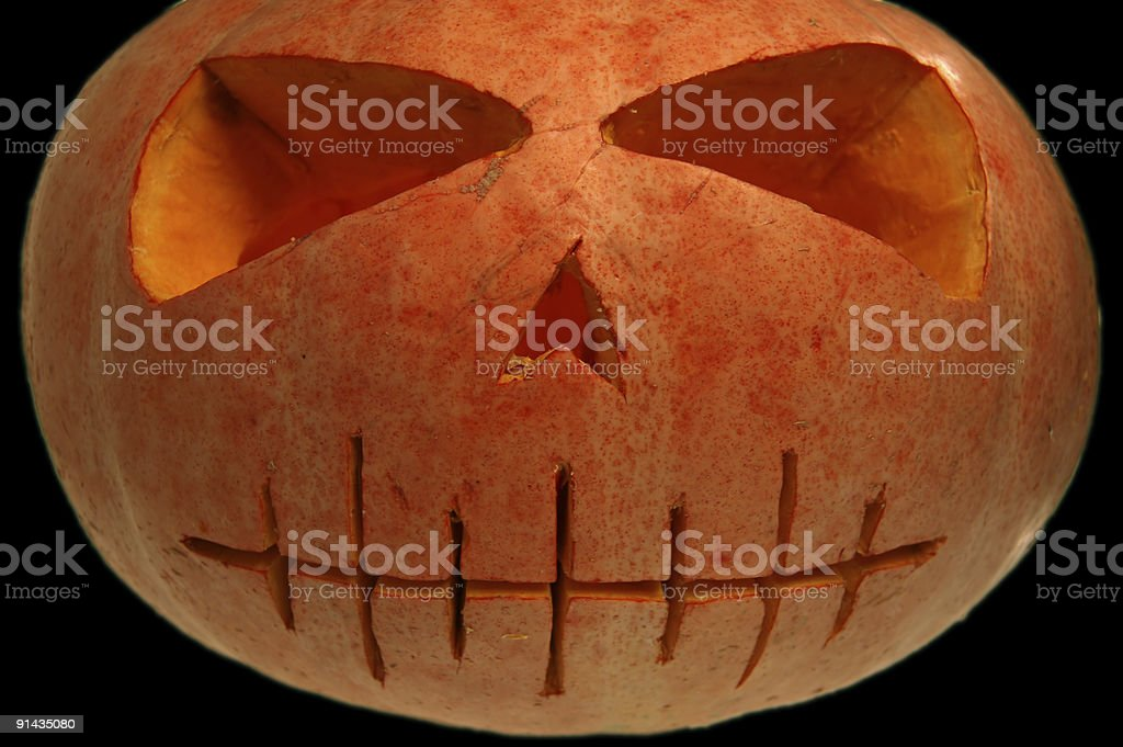 Halloween pumpkin isolated royalty-free stock photo